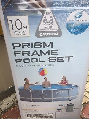 Clark Rubber Intex  Frame Pool Plus Cover- 10ft  With Sand Pump-