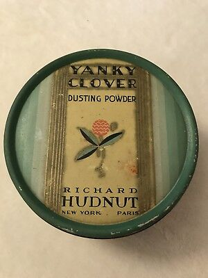 Antique Tin Yanky Clover Dusting Powder Richard Hudnut New York Paris