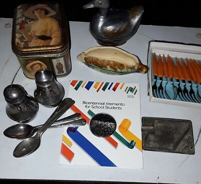 mix lot spoon ,forks duck.tin,more deceased estate