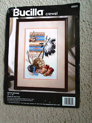 Bucillia Crewel Embroidery Kit Of Native Heritage 39 X 41Cms Finished Size