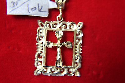 Beautiful One Of A Kind 10 K Yellow Gold 3D Cross Pendent 2.3 Grams