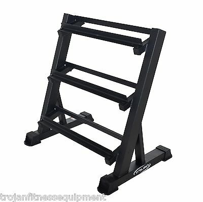 Dumbbell Rack 3 Tiers Home Storage Rack for Rubber Hex Dumbbells FREE Shipping