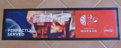 Coca Cola Rubber Backed Bar Runner.