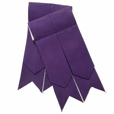 Scottish Kilt Hose Flashes/kilt Sock Flashes Plain Purple/kilt Flashes/kilt