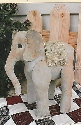Primitive Elephant Doll Pattern by R & K Creations