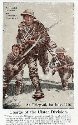 Charge Of The Ulster Division Thiepval 1 July 1916 Uvf Belfast Ireland Postcard