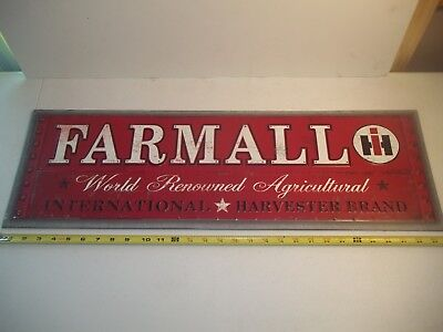 """FARMALL IH Vintage Retro Style Metal Tin Large Tractor Sign New 30""""X10"""""""