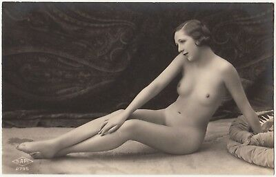 1910 Original French RPPC Nude Girl Attractive Delicate Beauty Lingerie