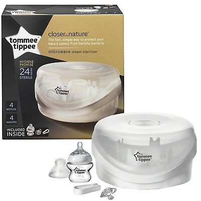 Tommee Tippee Closer To Nature Microwave Steam Steriliser NEW IN SEALED BOX