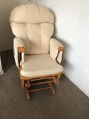 Gliding Nursing Chair And Stool Used