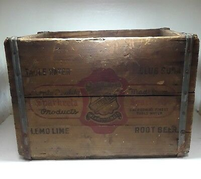 Vintage Sparkletts Water/Soda Wood Crate