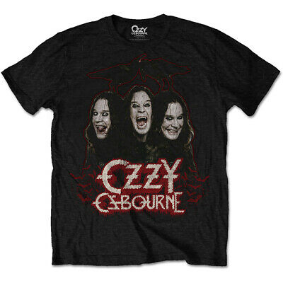 Ozzy Osbourne Crows and Bars Black Sabbath Official Tee T-Shirt Mens