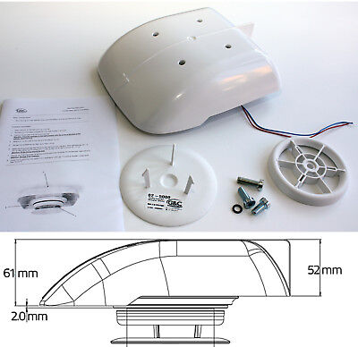 Small Low Profile Motorised Van Roof Vent WHT compact extractor taxi dog vehicle