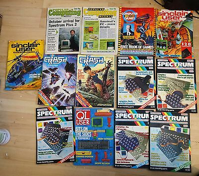 Various Sinclair Spectrum magazines and computer magazines / 80s