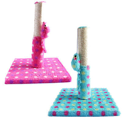Kitten Cat Scratching Post Activity Scratcher Upright Tough With Play Toy Strong