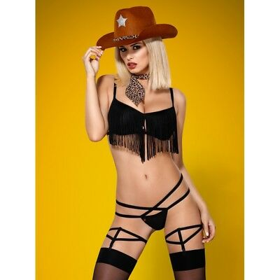 """832"" costume cowgirl sherif soutien-gorge string foulard chapeau Obsessive"