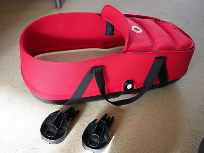 Bugaboo Bee 3 Carrycot in Red, Base, Adapters