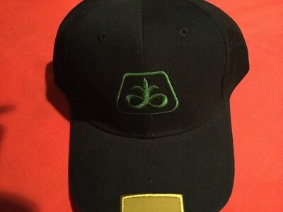 New Black with Gold trim Pioneer Seed Corn Hat Cap Iowa Hawkeyes Purdue Colors