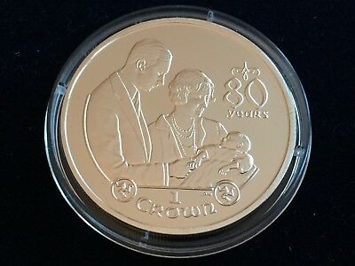 "2006 Isle of Man .925 Silver Proof One Crown ""Birth of a Princess""  28.28g"