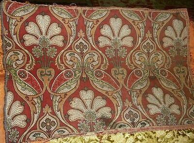 Antique French Art Nouveau Woven Textile