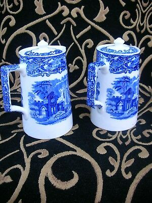 George Jones & Sons - Porcelain Coffee Pots - A Pair - Printed markings -