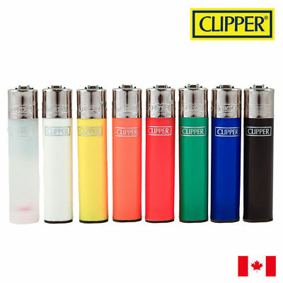 4 Clipper Solid Colour Refillable Lighters