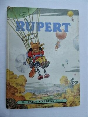 vintage Rupert annual, hardback book from 1957