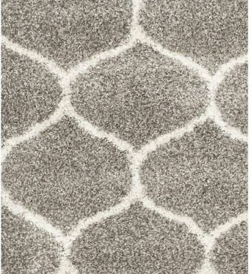 Safavieh Hudson Shag Gray/Ivory 8 Ft X 10 Ft Home Area Rug Modern Collection New