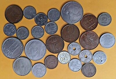 WORLD COINS WE3: Mixed lot of vintage coins NORWAY
