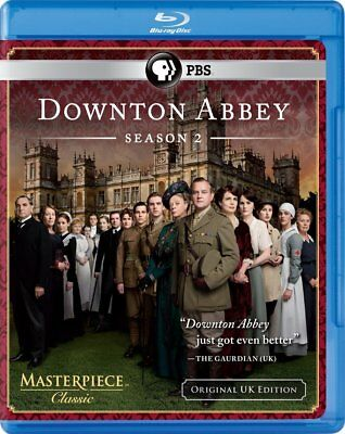 Downton Abbey: Season 2 (Blu-ray Disc, 2012, 3-Disc Set) Brand New
