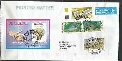 Namibia Cover - Klein Windhoek 2 - 16.11.2000 Block Triceratops plus Fische SWA