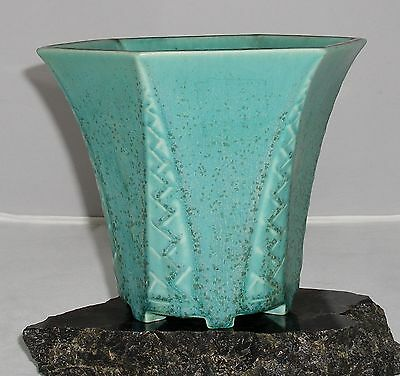 Rookwood Pottery Tapered Hexagonal Footed Vase #6179 1937