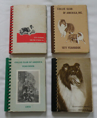 Lot Of 4 Collie Club Of America Yearbooks, 1970, 1971, 1972, 1973