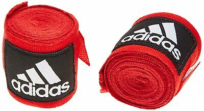 Adidas Boxing Hand Wraps 255cm Muay Thai  RED AIBA 2.5m stretch bandages