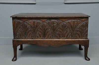 17th Century Carved Oak Coffer Chest