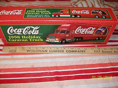1998 Limited Edition Coca-Cola Holiday Caravan Truck