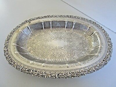 Large Silver Plated Bread / Serving Dish, Barker Ellis.