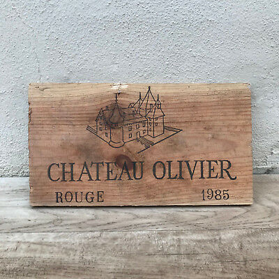 Wine Wood Crate Box Panel Antique Vintage French wall sign 17021818
