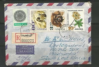 SWA Incoming R Cover Mail from Gdansk 29.12.1973 - Okahandja