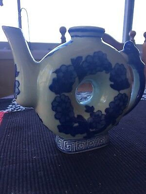 Antique China Teapot With Hole In The Middle