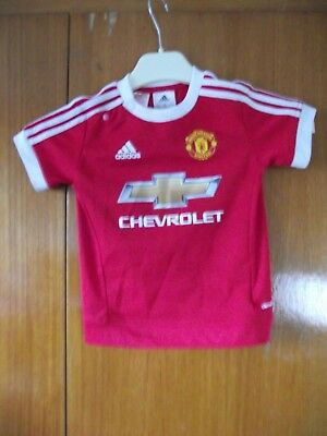 Manchester United Football Shirt & Shorts adidas 2015 size 12 to 18 months 86cm