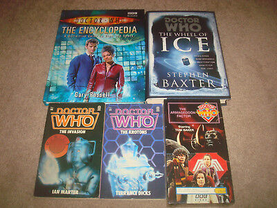 Doctor Who BOOK VHS LOT Armageddon Factor Krotons Invasion Encyclopedia Ice BBC
