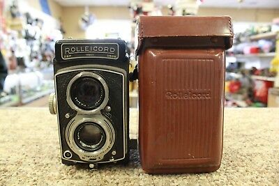 Vintage Rolleicord (DBP 1358470 DBGM) German Quality TLR Camera w/Leather Case