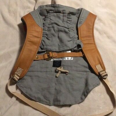 Sakura Bloom Onbuhimo Sterling Gray and Leather Baby Wearing Infant Carrier