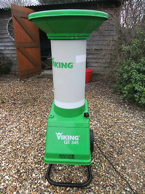 Viking GE345 electric garden shredder shreds plant refuse bushes and branches