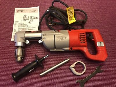 "Milwaukee 1107-1 1/2"" Corded Right Angle Drill. Complete Kit -Pre-owned"