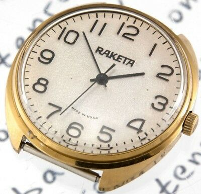 RAKETA Russian Watch USSR Old Antique Vintage AU Gold Plated