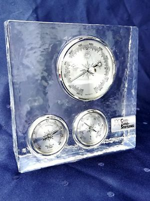 100 Jahre Carl-Zeiss-Stiftung Wetterstation Barometer Thermo-Hygrometer Kristall