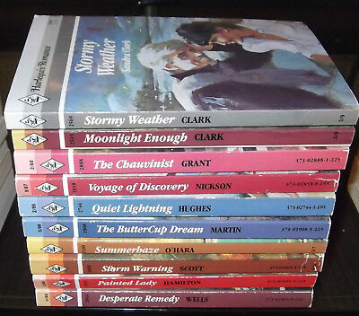 LOT OF 10 VINTAGE HARLEQUIN NEW ROMANCE BOOKS 1980's #77