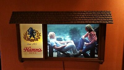 Hamm's Lighted Sign:   A Beer on The Deck